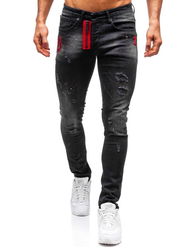 Bolf Herren Jeanshose skinny fit Schwarz  9239