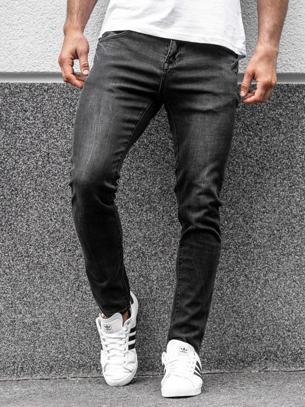 Bolf Herren Jeanshose slim fit Schwarz KX258