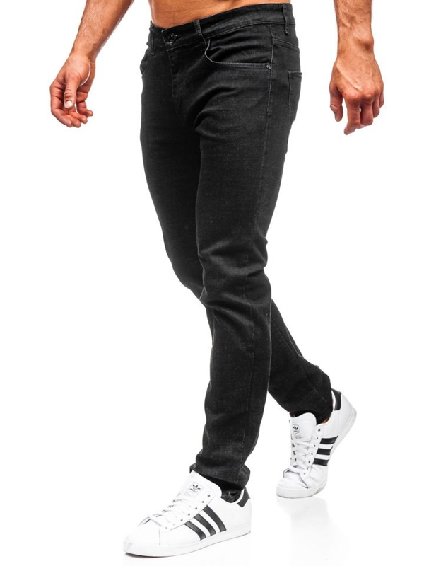 Bolf Herren Jeanshose straight leg Schwarz KA9977
