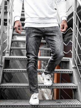 Bolf Herren Jeanshose straight leg Schwarz KX190