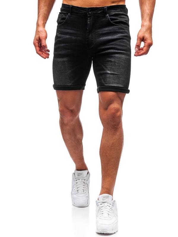 Bolf Herren Kurze Jeanshose Schwarz  T572