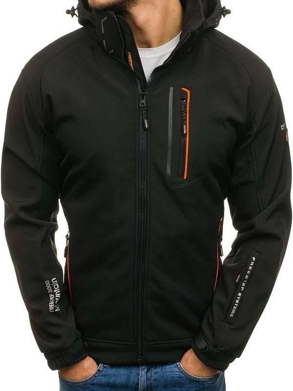 Bolf Herren Übergangsjacke Softshell Schwarz-Orange  6602