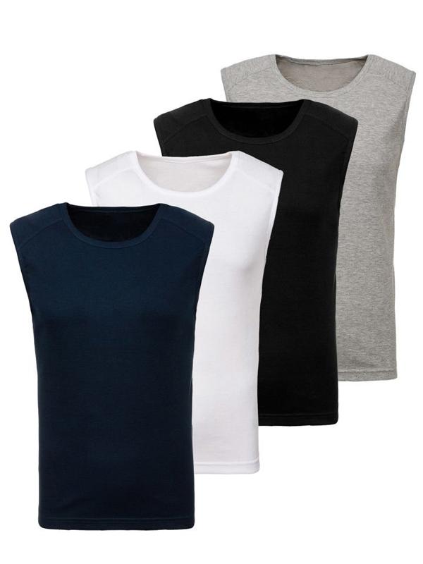 Bolf Herren Unterhemd Mehrfarbig 4 Pack  C3066-4P