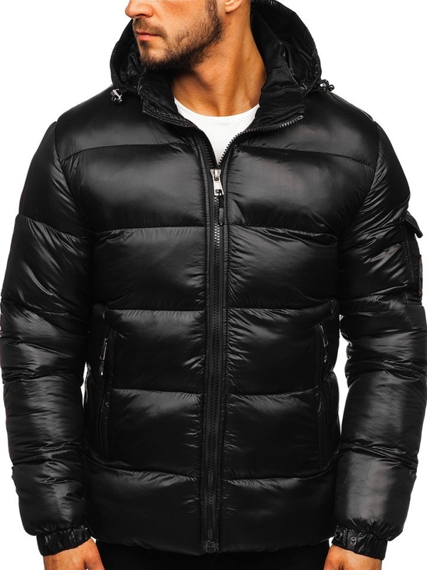 Bolf Herren Winterjacke Sport Jacke mit Steppmuster Schwarz  K65