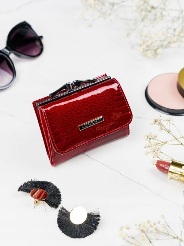 Damen Ledergeldbörse Rot 2103