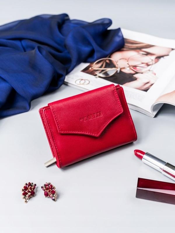 Damen Ledergeldbörse Rot 2409