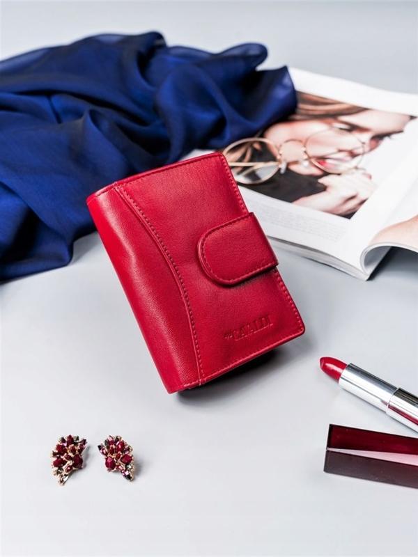 Damen Ledergeldbörse Rot 2417