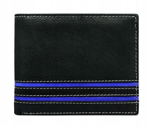 Herren Leder Geldbörse Blau 580