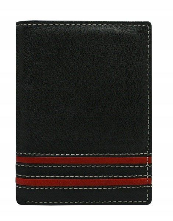 Herren Leder Geldbörse Rot 590