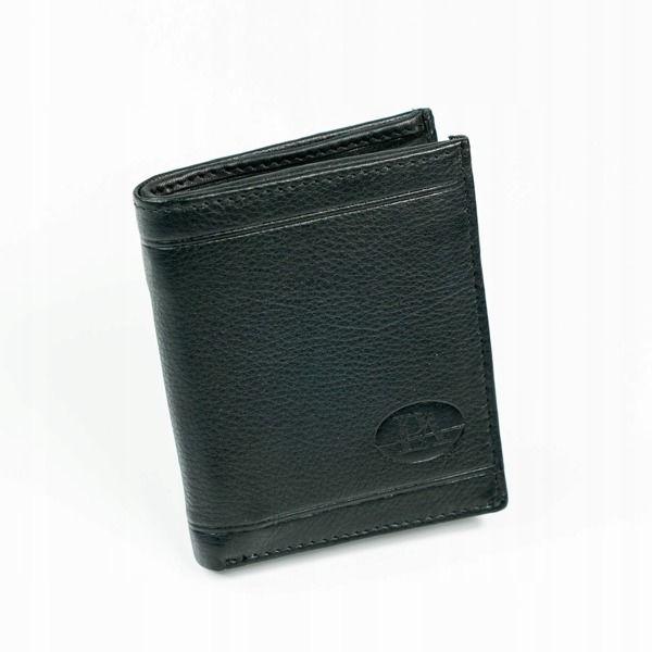 Herren Leder Geldbörse Schwarz 877