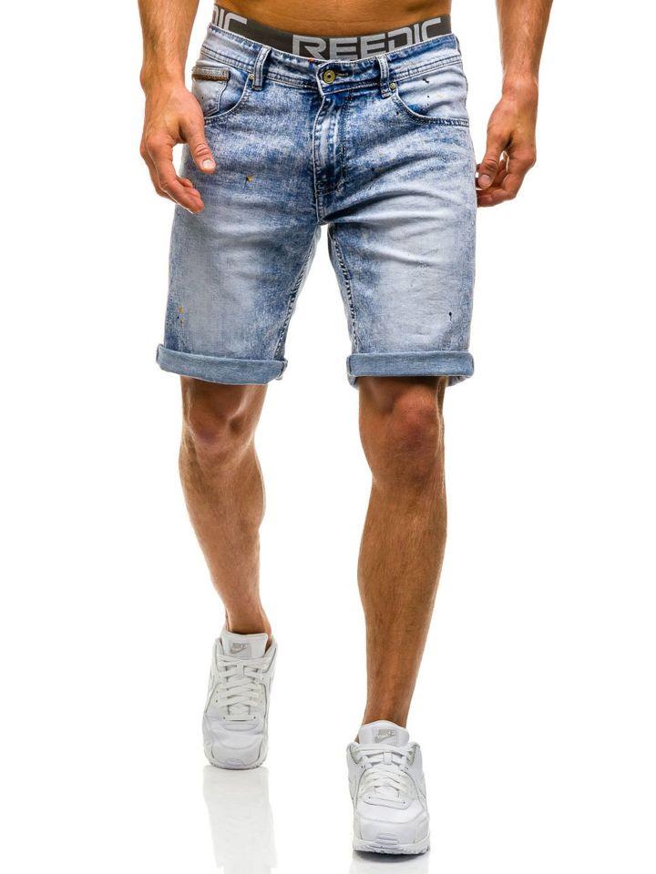 bolf herren jeans shorts hellblau 9588. Black Bedroom Furniture Sets. Home Design Ideas