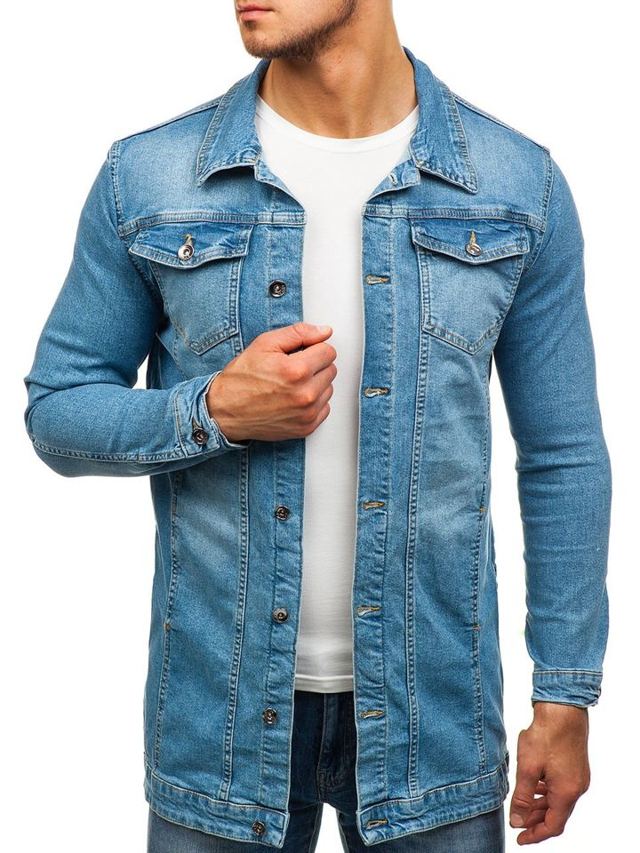 low priced b2425 a33ff Bolf Herren Jeansjacke Blau 2020