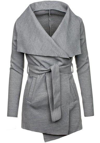 Bolf Damen Mantel Kurz Grau  1726