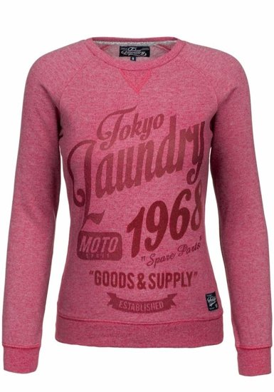 Bolf Damen Sweatshirt ohne Kapuze Rot 4798