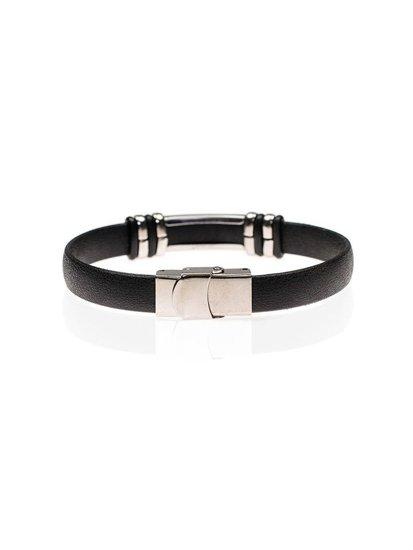 Bolf Herren Armband Schwarz B078