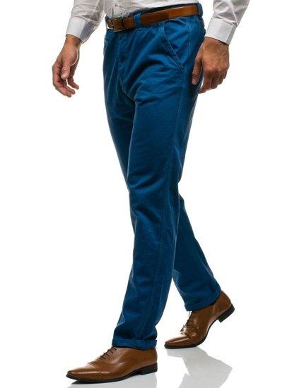 Bolf Herren Chino Hose Blau  6191