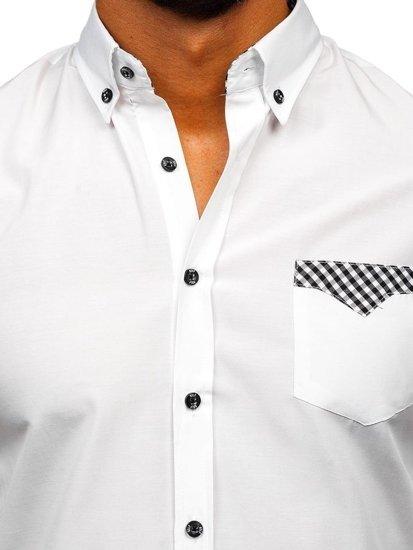Bolf Herren Hemd Elegant Langarm Weiß  4711
