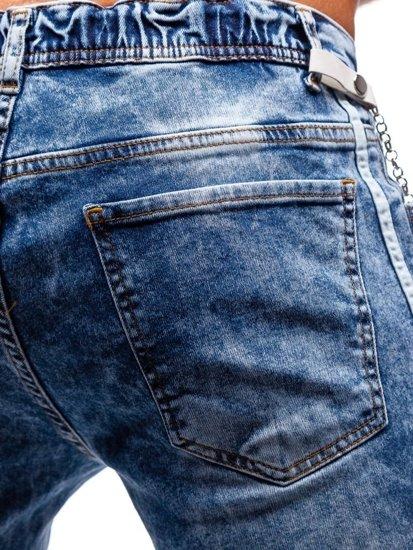 Bolf Herren Jeanshose Jogger Blau  2057