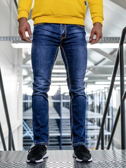 Bolf Herren Jeanshose straight leg Dunkelblau KA1125