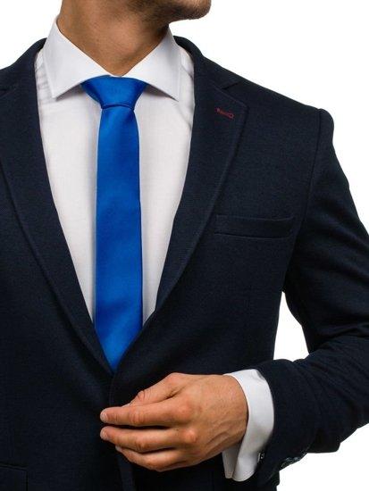 Bolf Herren Krawatte Blau K001