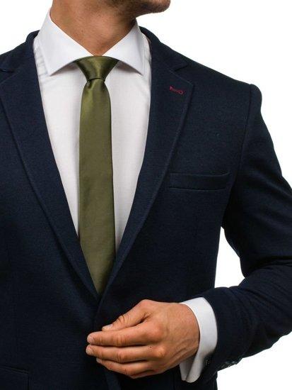 Bolf Herren Krawatte Elegant Dunkelgrün K001
