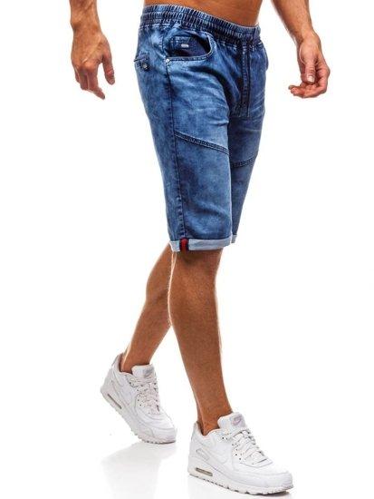 Bolf Herren Kurze Jeanshose Dunkelblau  HY251