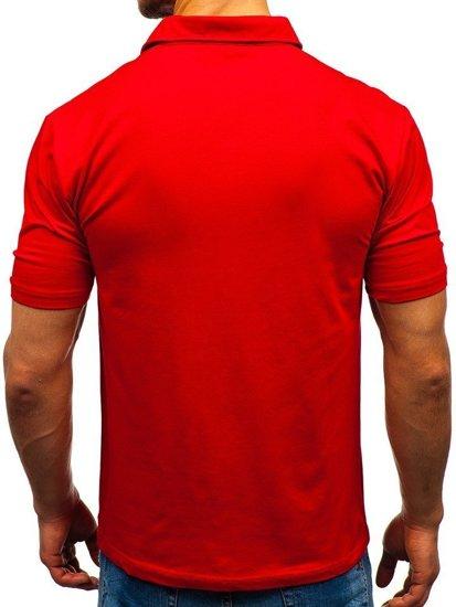 Bolf Herren Poloshirt Rot  6797
