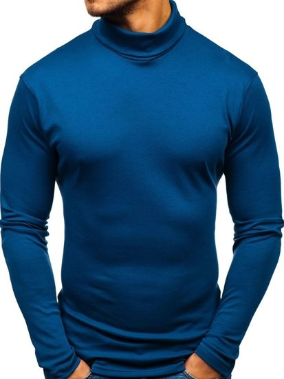 Bolf Herren Rollkragen Blau  145347