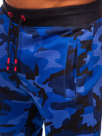 Bolf Herren Sporthose Camo-Kobaltblau KZ15