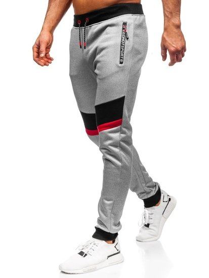 Bolf Herren Sporthose Grau AM75