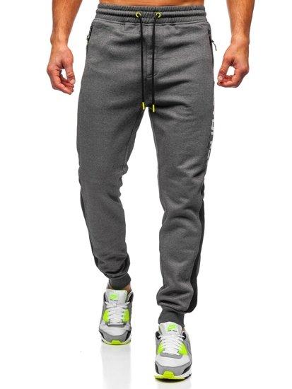 Bolf Herren Sporthose Grau  TC947