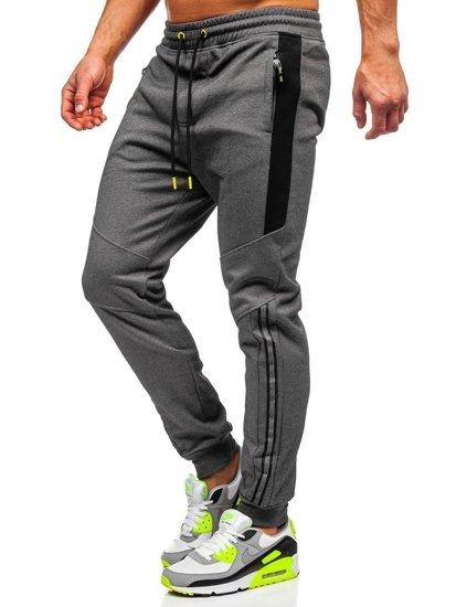 Bolf Herren Sporthose Grau  TC951