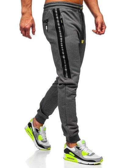 Bolf Herren Sporthose Grau  TC952