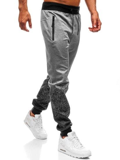 Bolf Herren Sporthose Jogger Grau  HM007