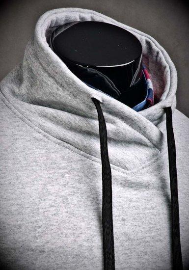 Bolf Herren Sweatshirt ohne Kapuze Grau 04