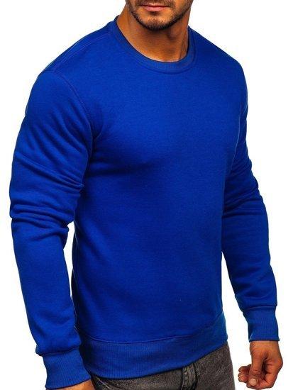 Bolf Herren Sweatshirt ohne Kapuze Kobaltblau  BO-01