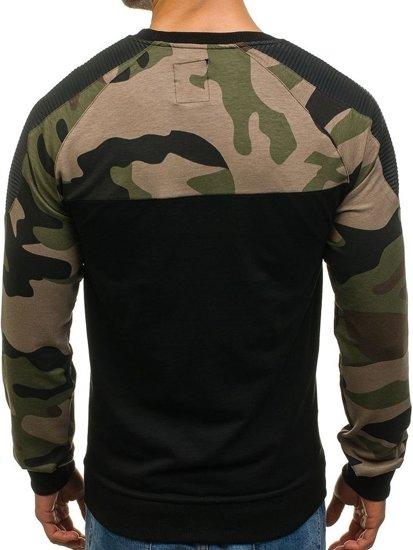 Bolf Herren Sweatshirt ohne Kapuze Schwarz  0749