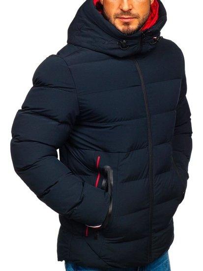 Bolf Herren Winterjacke Dunkelblau  5923