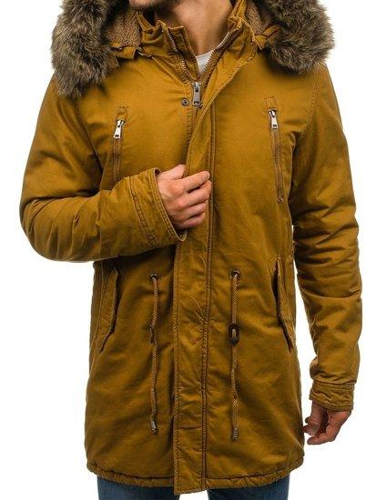Bolf Herren Winterjacke Parka Camel  R56