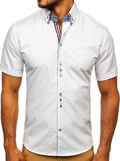 Bolf Herrenhemd Elegant Kurzarm Weiß 3507