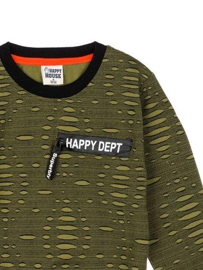 Bolf Jungs Sweatshirt ohne Kapuze Grün  HB1963