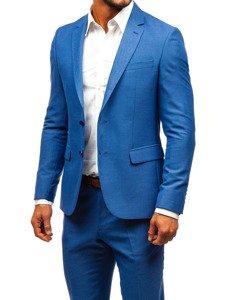 Bolf Herren Anzug Blau 19200 1