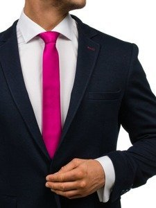 Bolf Herren Krawatte Elegant Dunkelviolett K001