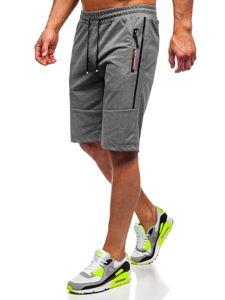 Bolf Herren Shorts Badehose Schwarzgrau  JX366