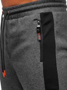 Bolf Herren Sporthose Schwarzgrau-Orange  Q1040