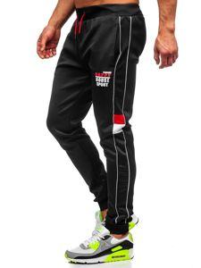 Bolf Herren Sporthose mit Motiv Schwarz  AM86