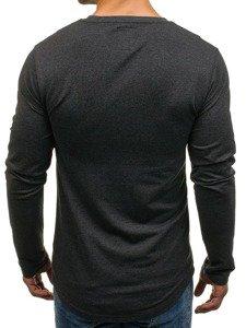 Bolf Herren Sweatshirt ohne Kapuze Anthrazit 0745