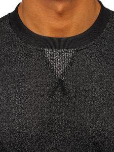 Bolf Herren Sweatshirt ohne Kapuze Anthrazit  3672