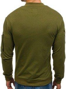 Bolf Herren Sweatshirt ohne Kapuze Grün 0736