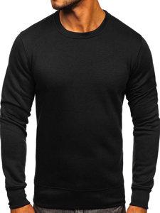Bolf Herren Sweatshirt ohne Motiv Schwarz  2001